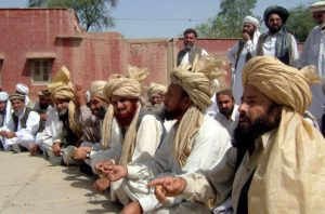 Mehsud tribesmen gather for a grand assembly