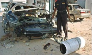 CNG cylinder explosion