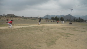A view of a cricket match in the ongoing tournament in Mohmand Agency. - Gul Muhammad