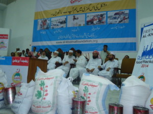 A view of the ceremony, held to distribute Eid Package to displaced families of North Waziristan. - Gohar Wazir
