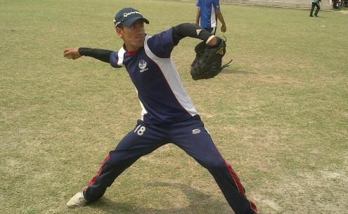 A player at the Jamrud baseball academy. - Photo by Ayaz Raza