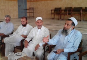 JAMRUD: Officials of the Khyber Agency Education Department at a meeting, - Ayaz Raza