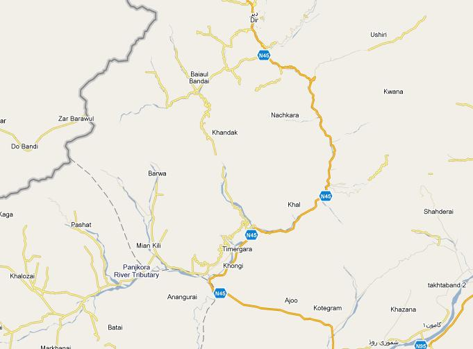 Map-Lower-Dir-Timergara-Maidan