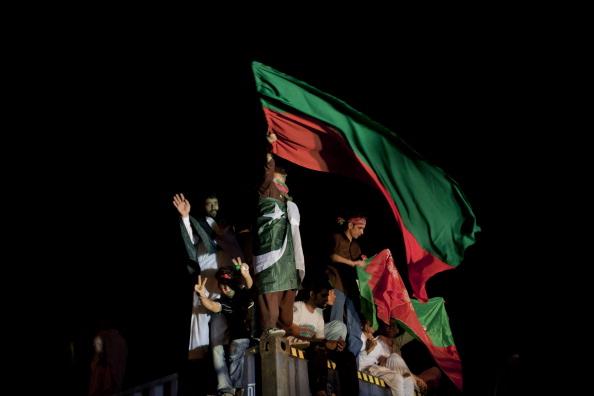 PTI rally preparation in Islamabad, Pakistan