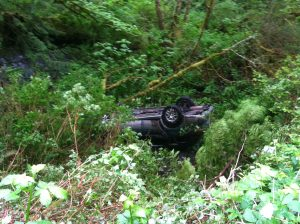 pick up fell in to ravine