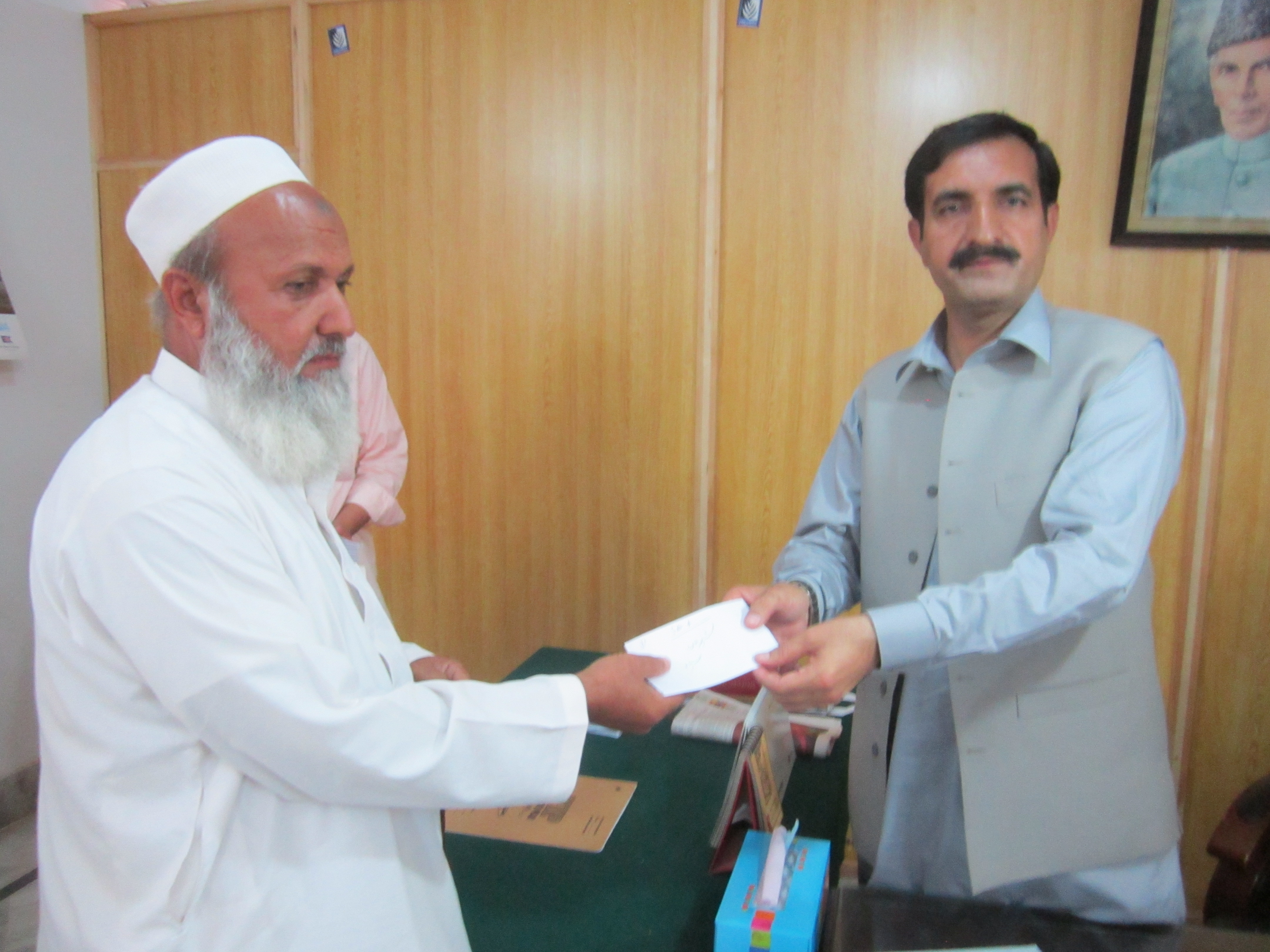 Khyber Agency Cheque distribution pic by saleem Afridi