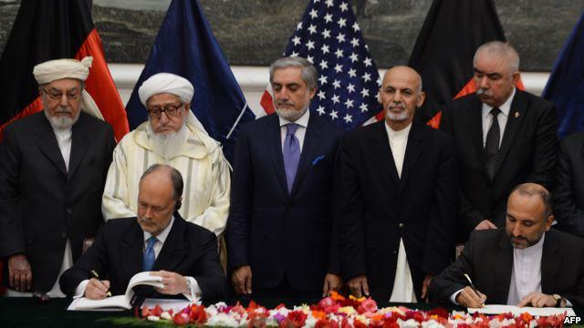 Afghan sign agreement