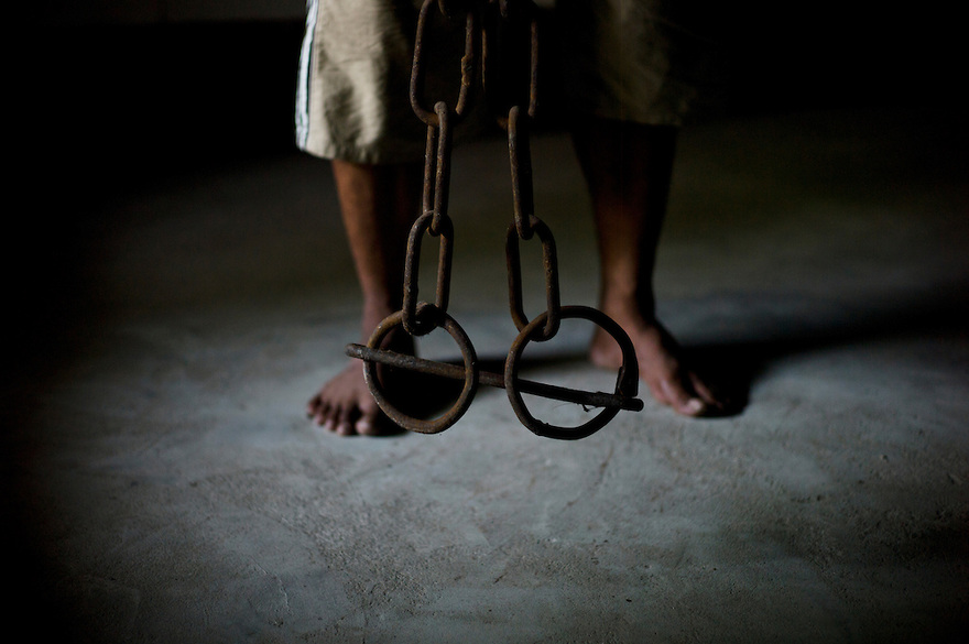 Prison shackles from a Burmese jail