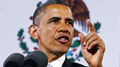 U.S. President Obama delivers speech in Mexico City